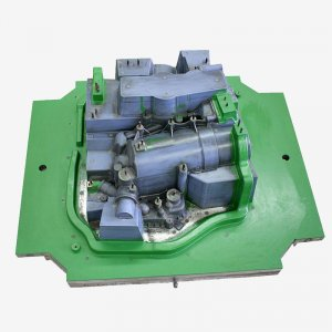 Model equipment for pump housing